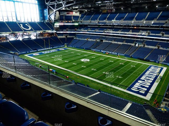 Lucas Oil Stadium Section 535 view