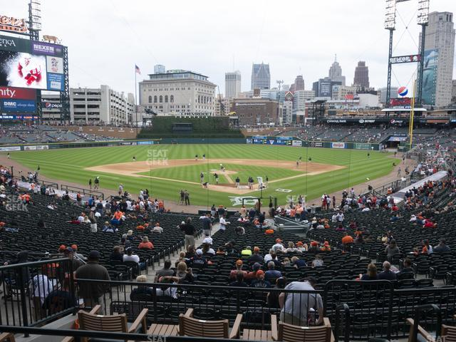 Comerica Park Section 128 view