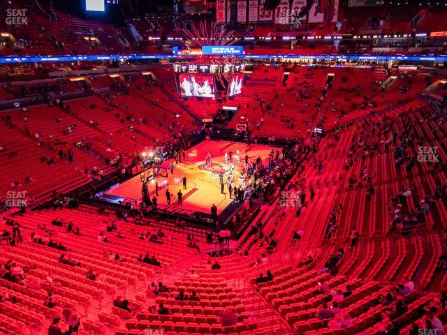 American Airlines Arena Section 314 view