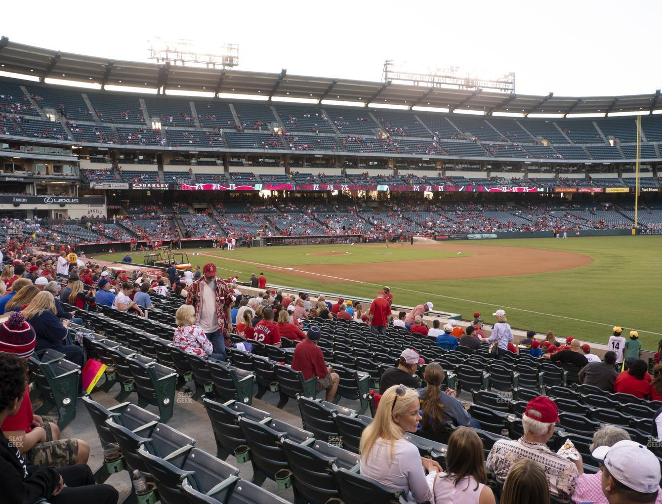 Los Angeles Angels at Angel Stadium of Anaheim Section 128 View