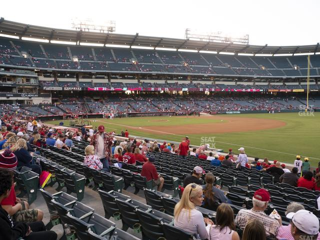 Angel Stadium of Anaheim Section 128 view