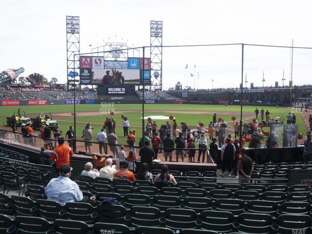 Oracle Park Section 117 view