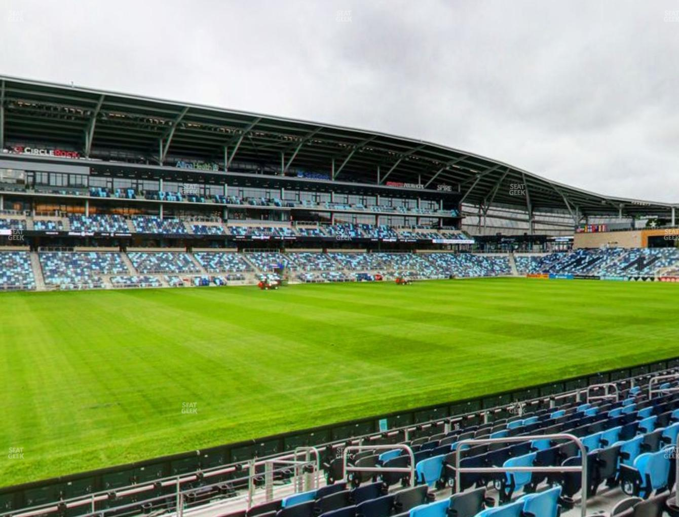 Minnesota United FC at Allianz Field Section 17 View