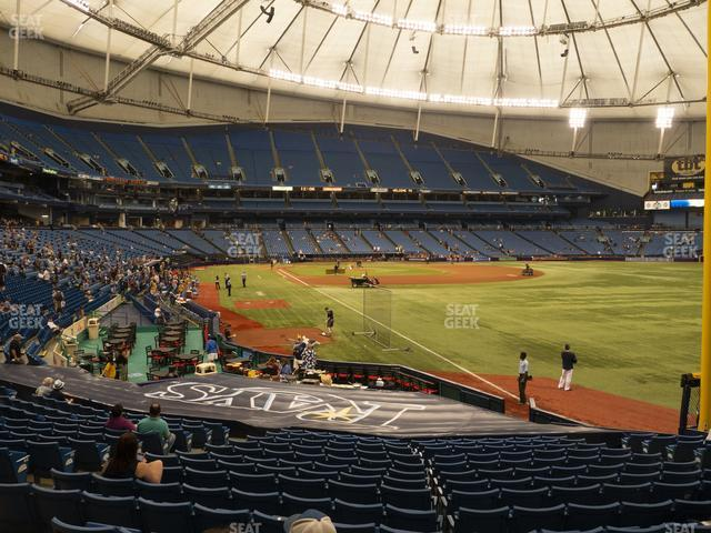 Tropicana Field Section 138 view