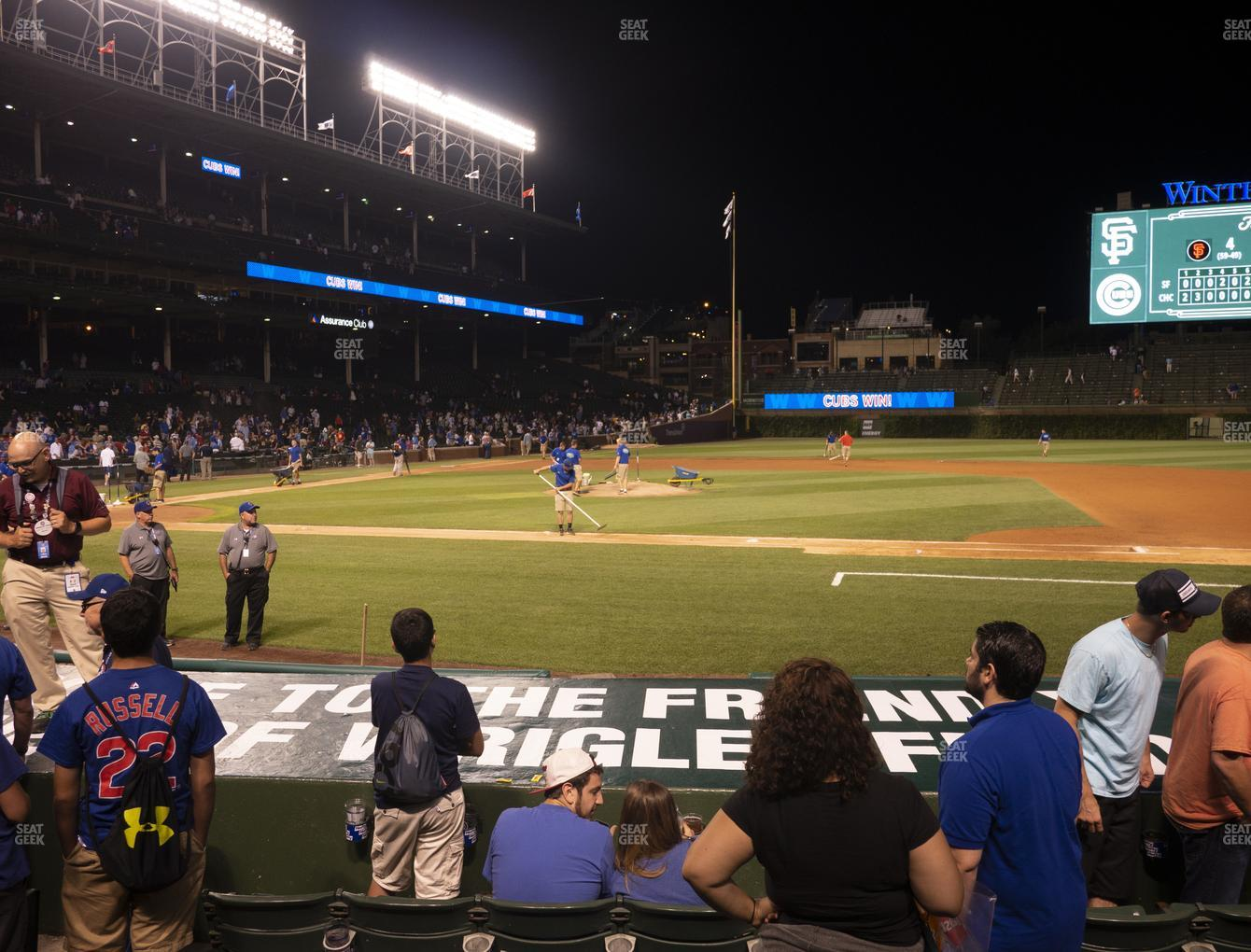 Chicago Cubs at Wrigley Field Club Box Infield 25 View