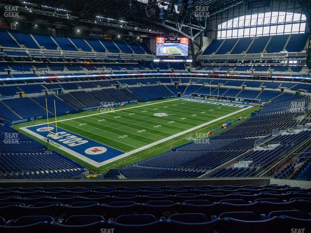 Lucas Oil Stadium Section 447 view