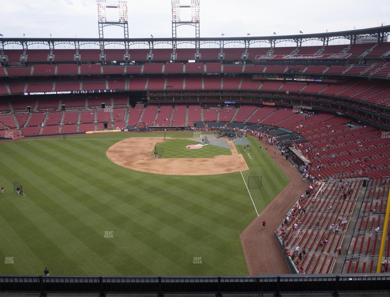 St. Louis Cardinals at Busch Stadium Left Field Pavilion 372 View