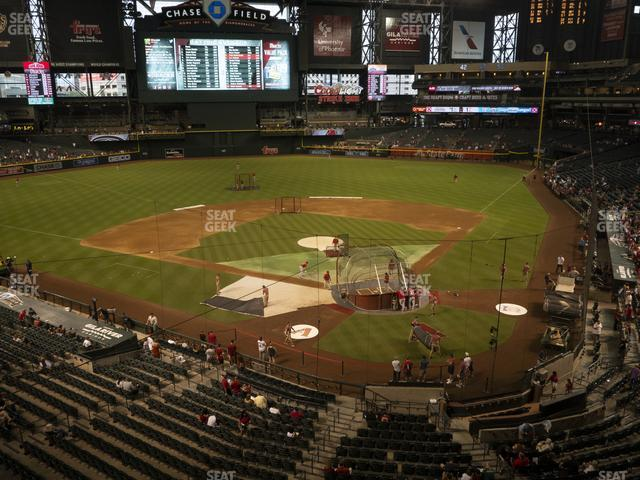 Chase Field Section 210 G view