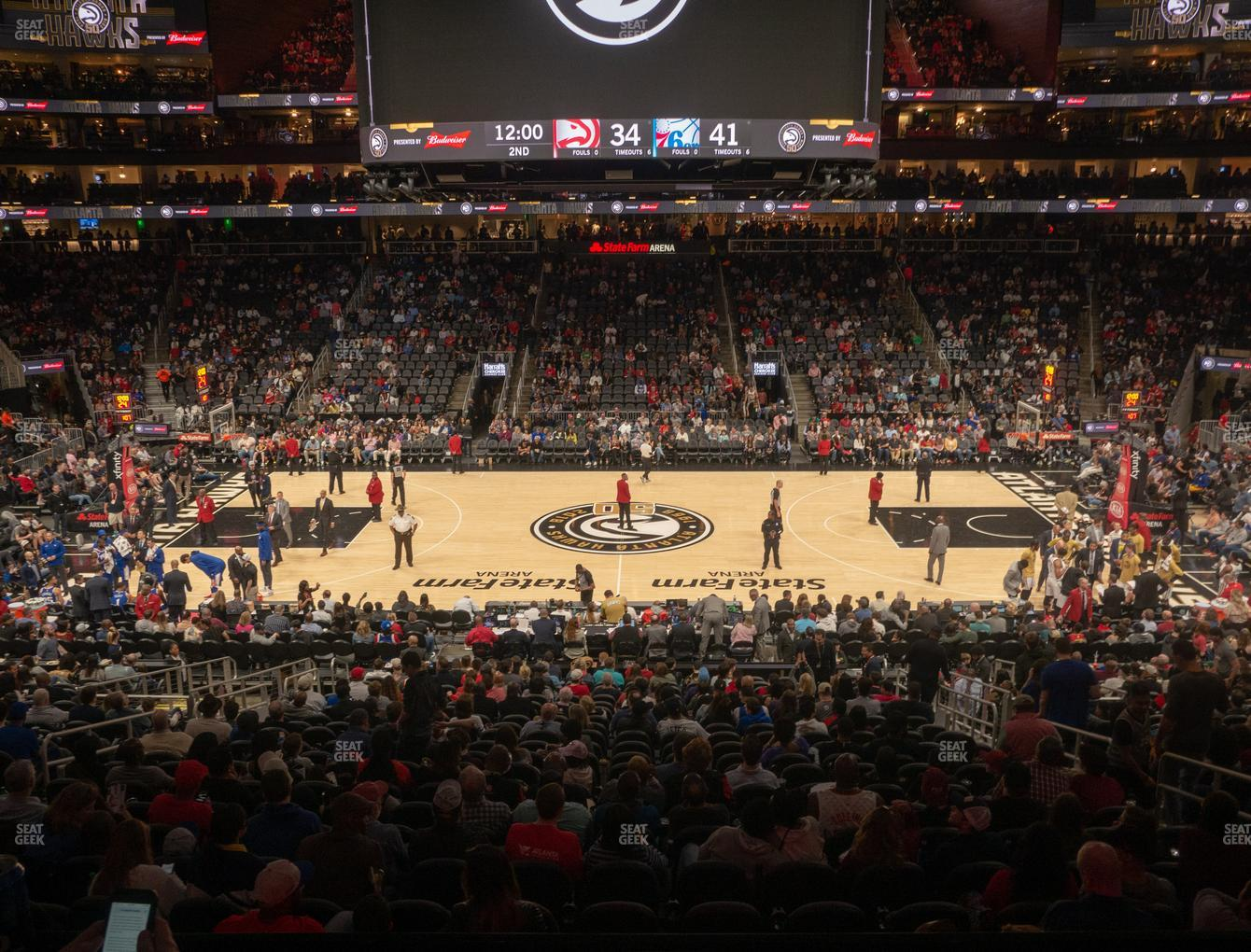 Atlanta Hawks at State Farm Arena Section T 22 View