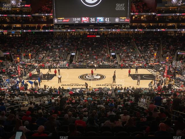 State Farm Arena Section T 22 view