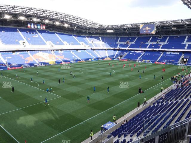 Red Bull Arena Section 214 view