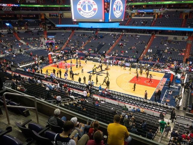 Capital One Arena Section 217 view