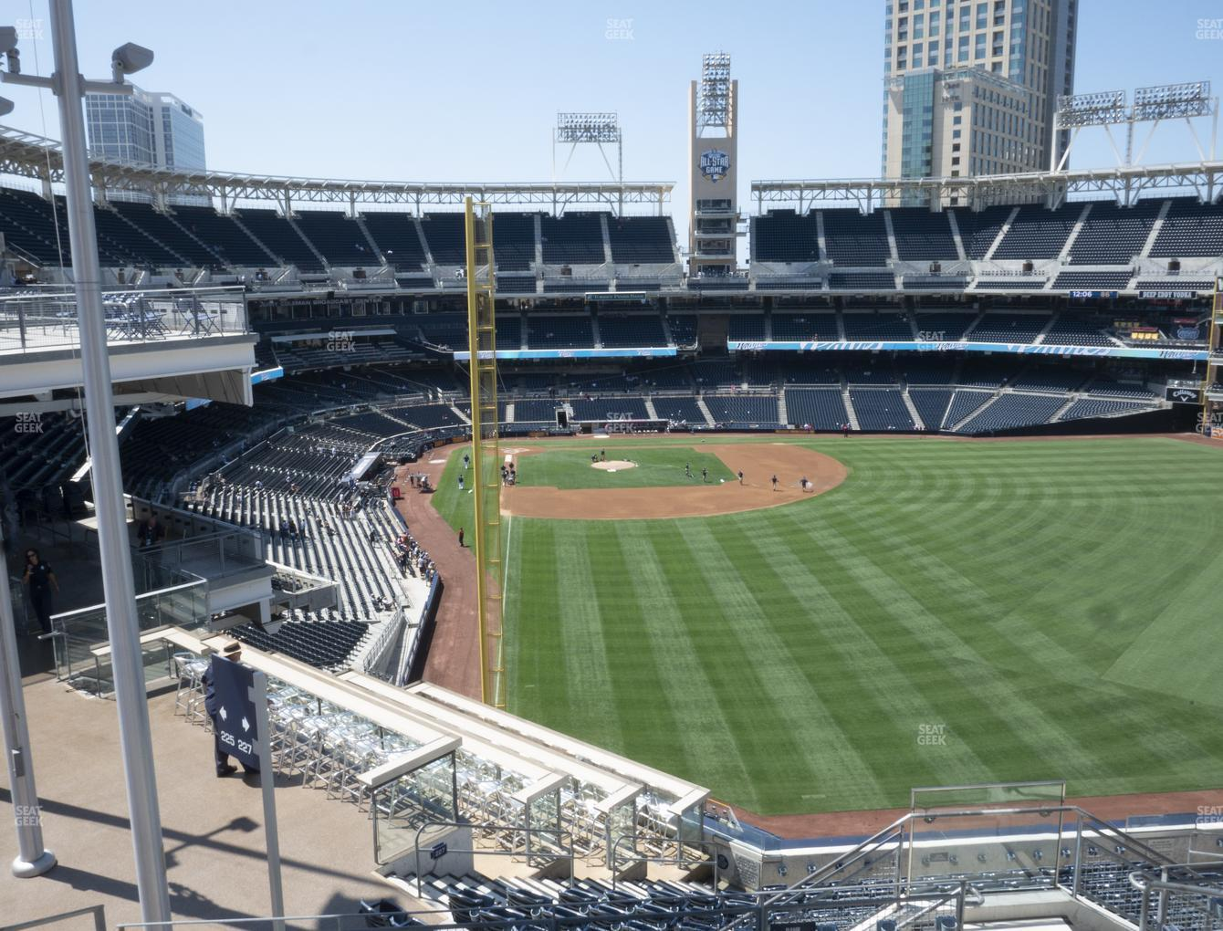 San Diego Padres at Petco Park Section 227 View