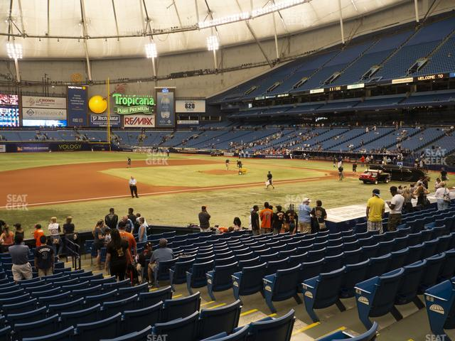 Tropicana Field Section 121 view