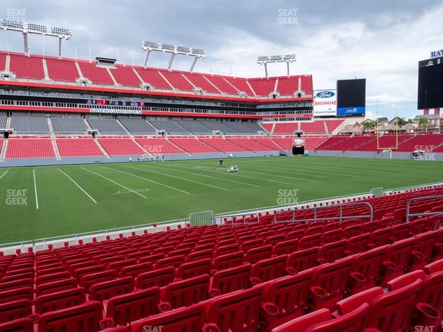 Raymond James Stadium Section 134 view