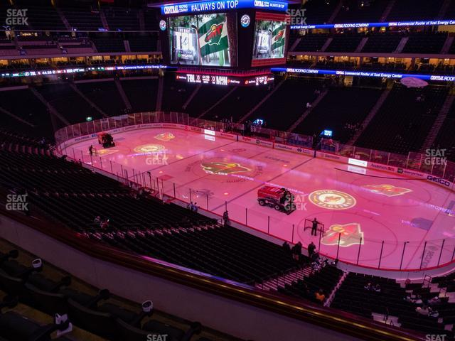 Xcel Energy Center Section Club 2 view