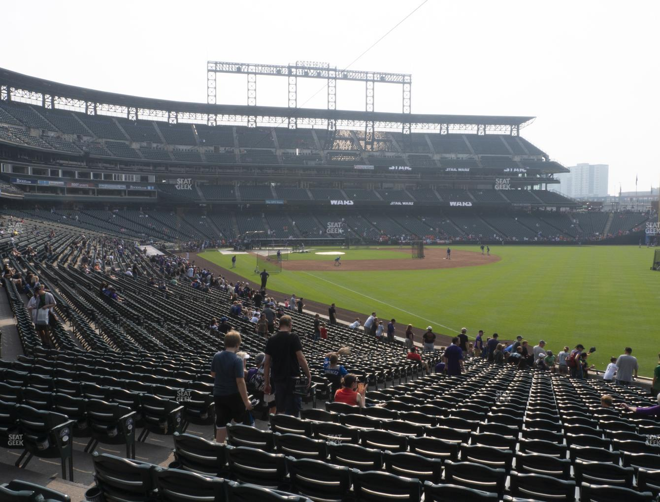 Colorado Rockies at Coors Field Section 112 View