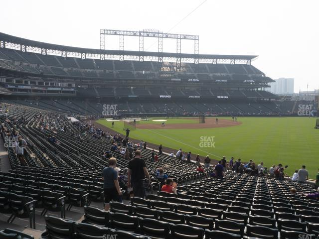 Coors Field Section 112 view