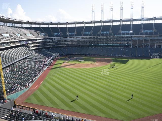Progressive Field Section 408 view