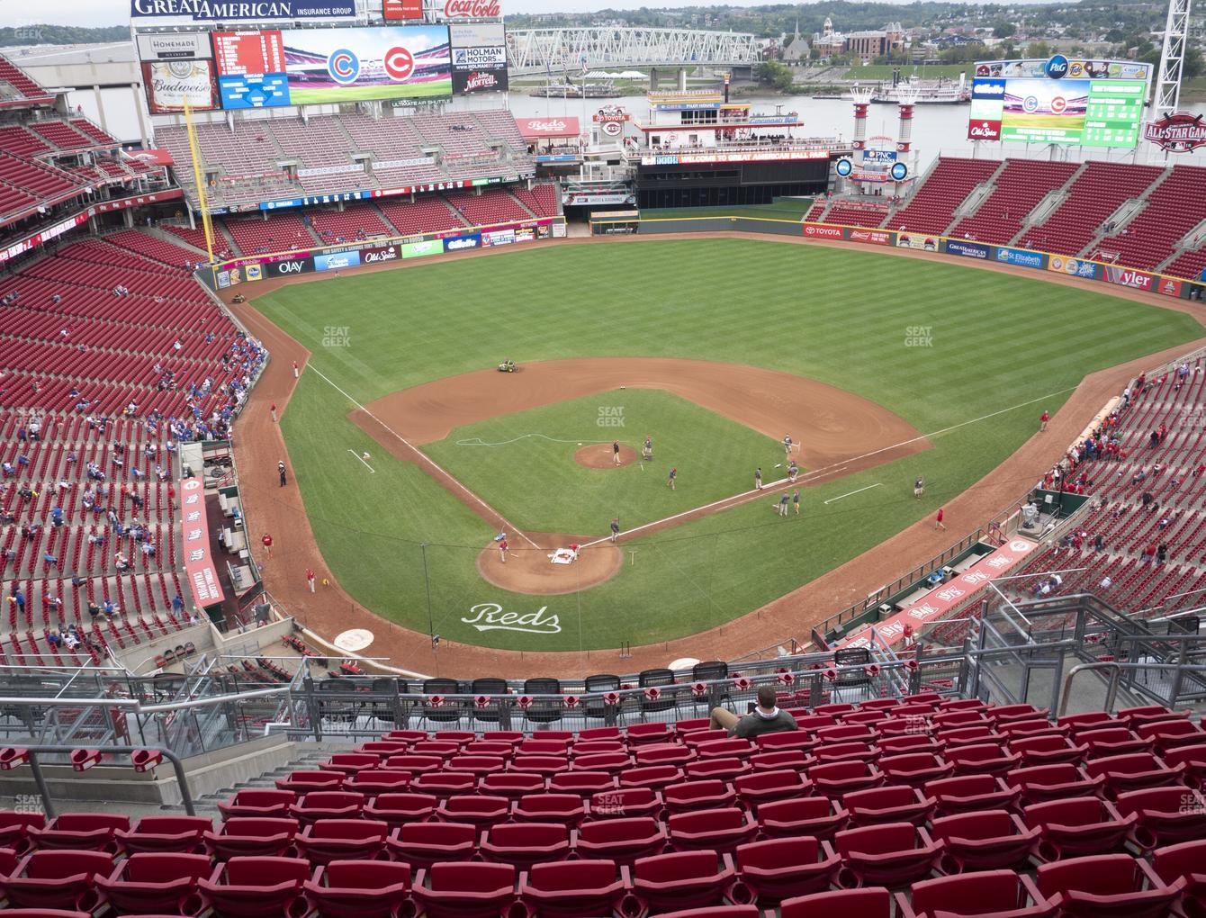Cincinnati Reds at Great American Ball Park Section 525 View