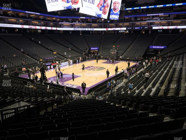 Golden 1 Center Section 124 view