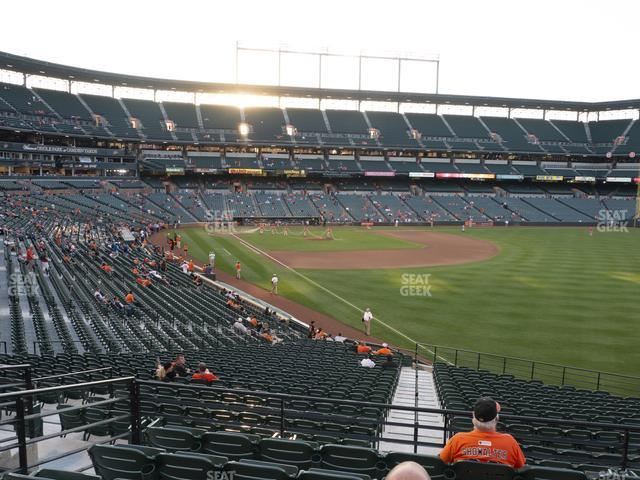 Oriole Park at Camden Yards Section 5 view