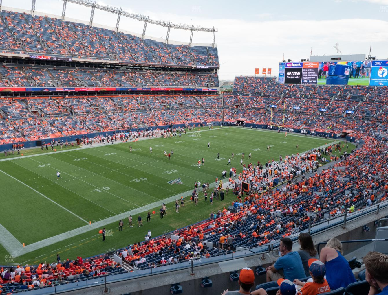 Denver Broncos at Empower FIeld at Mile High Section 317 View