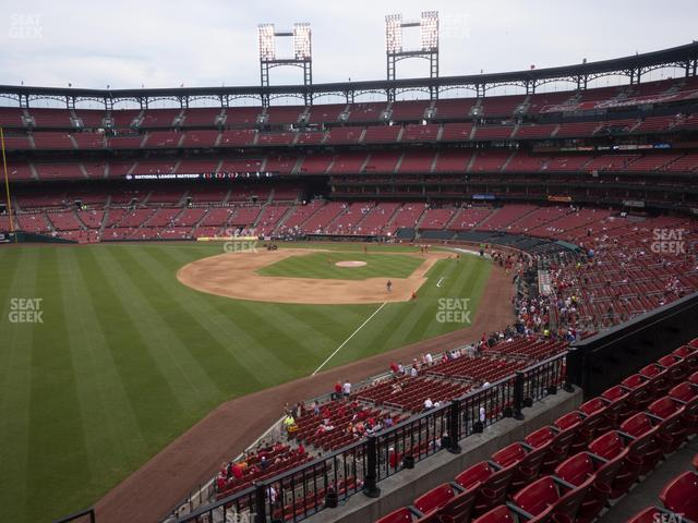 Busch Stadium Left Field Loge 269 view