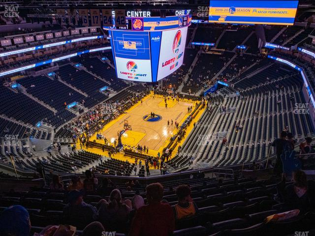 Chase Center Section 211 view