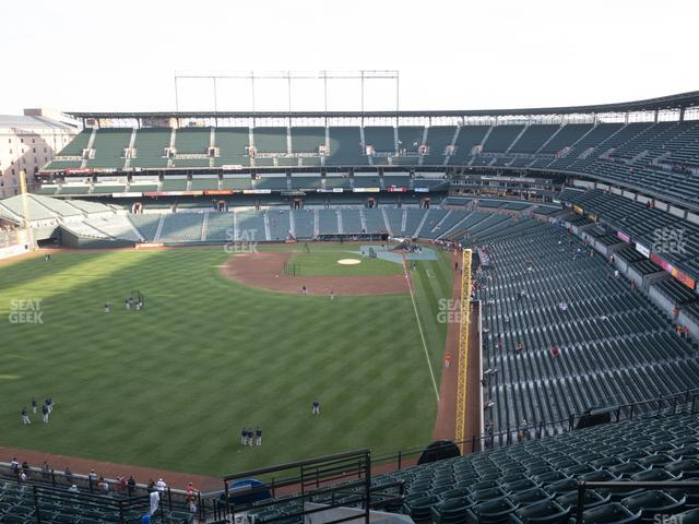 Oriole Park at Camden Yards Section 380 view