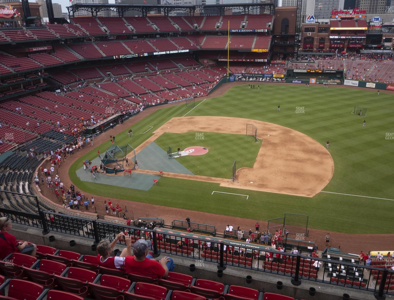 St. Louis Cardinals at Busch Stadium Infield Pavilion 342 View