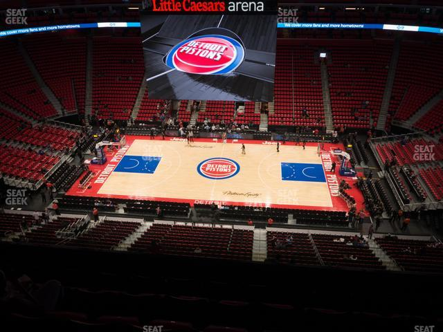 Little Caesars Arena Section 211 view