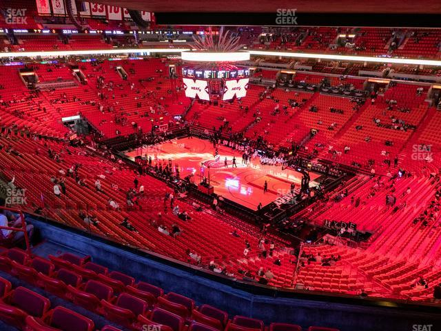 American Airlines Arena Section 321 view