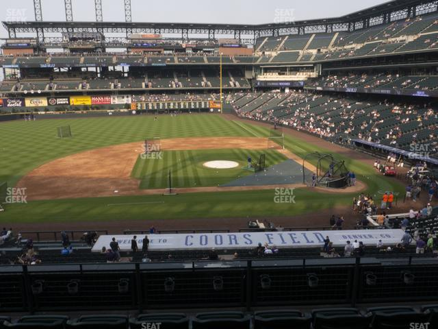 Coors Field Section 238 view