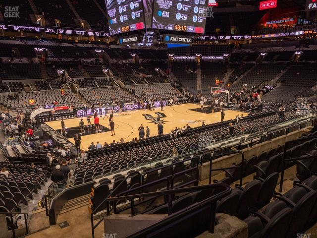AT&T Center Section 124 view