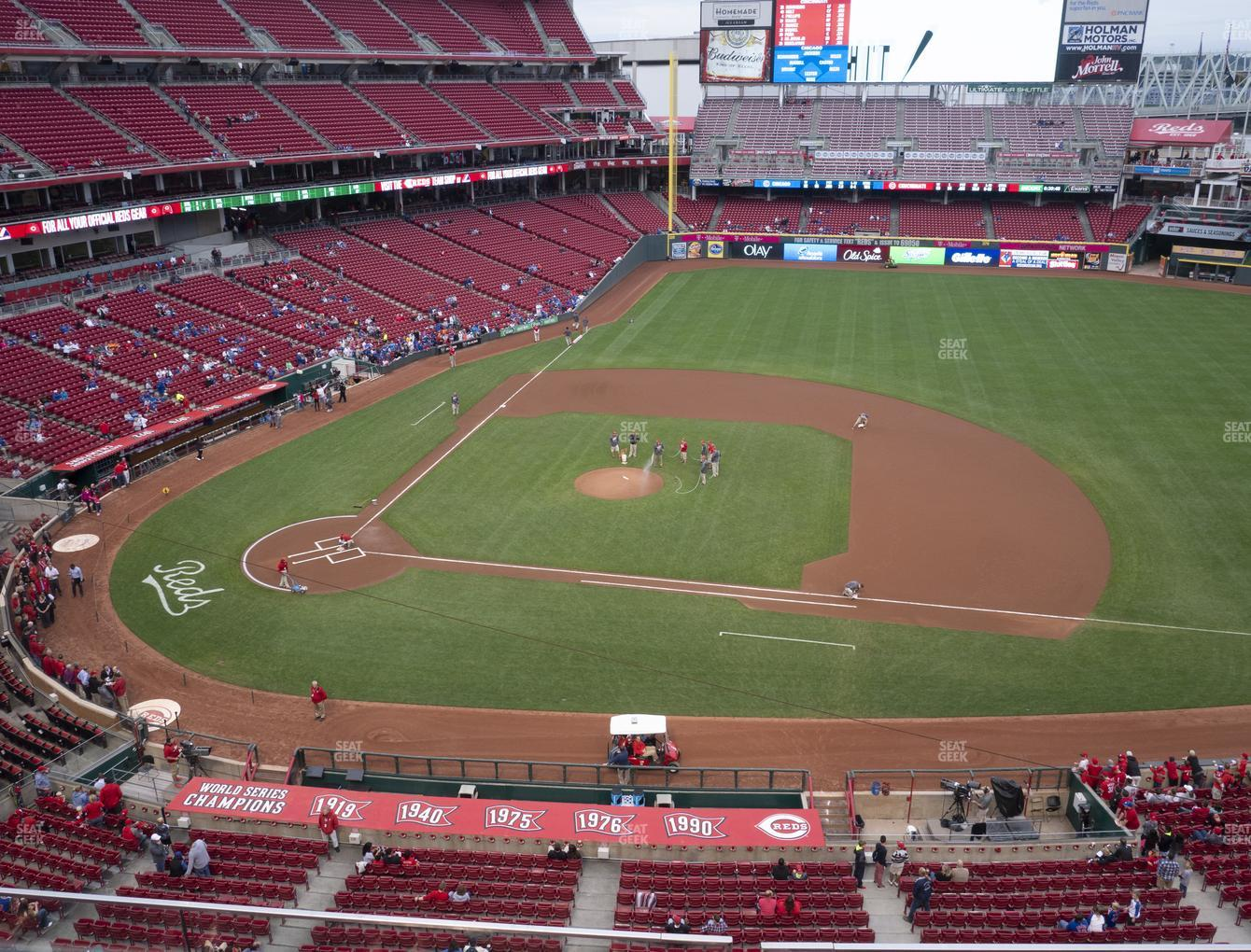 Cincinnati Reds at Great American Ball Park Section 430 View