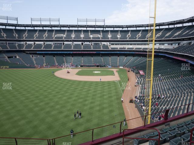 Globe Life Park Section 206 view