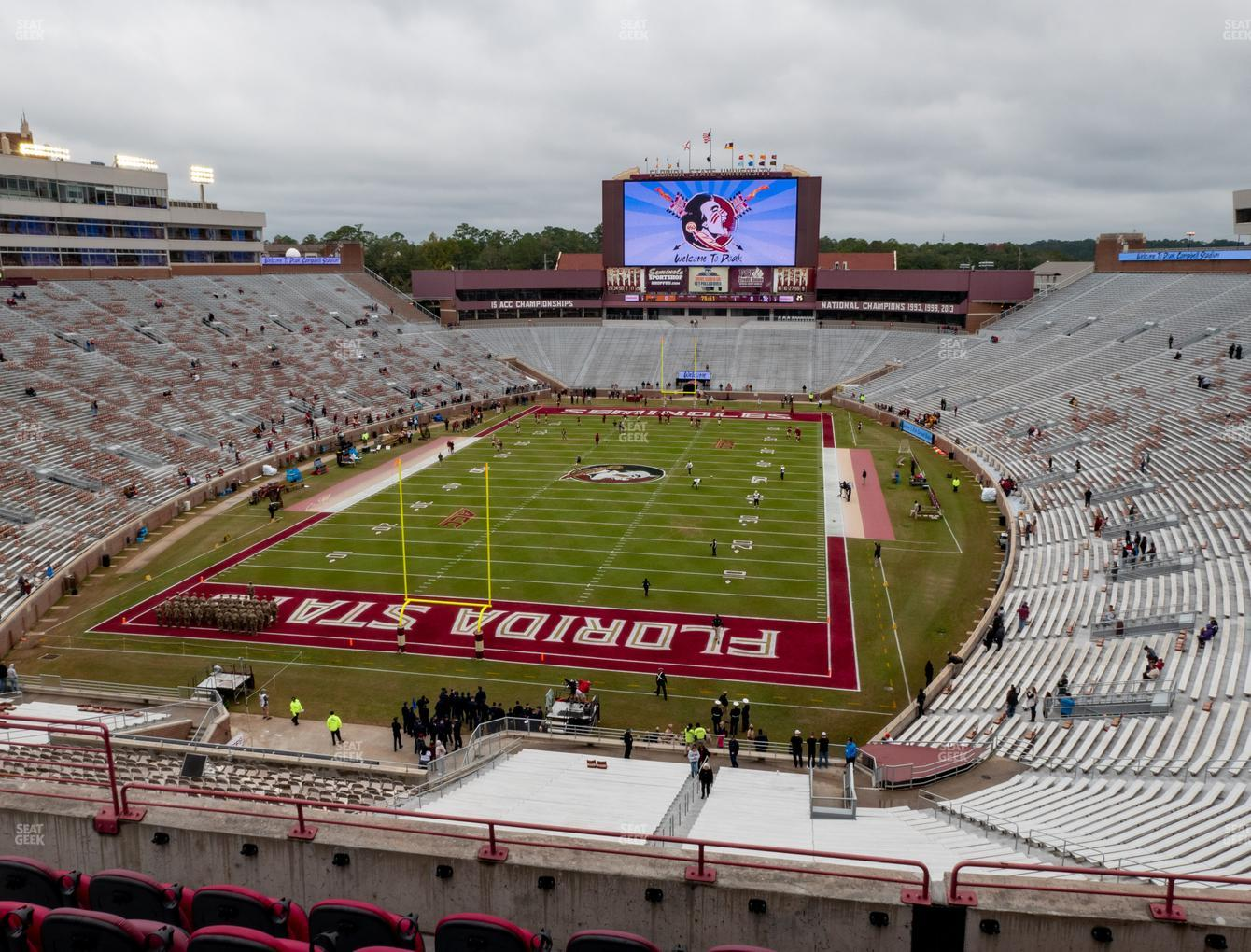 Florida State Seminoles Football at Doak Campbell Stadium Section Club 319 View