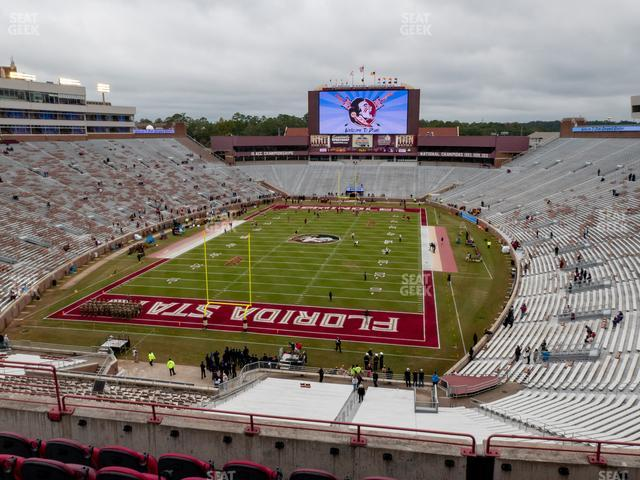 Doak Campbell Stadium Section Club 319 view