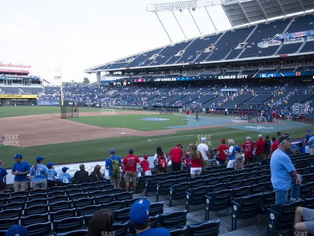 Kauffman Stadium Section 117 view
