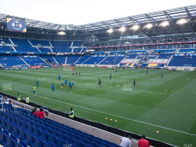 Red Bull Arena Section 124 view