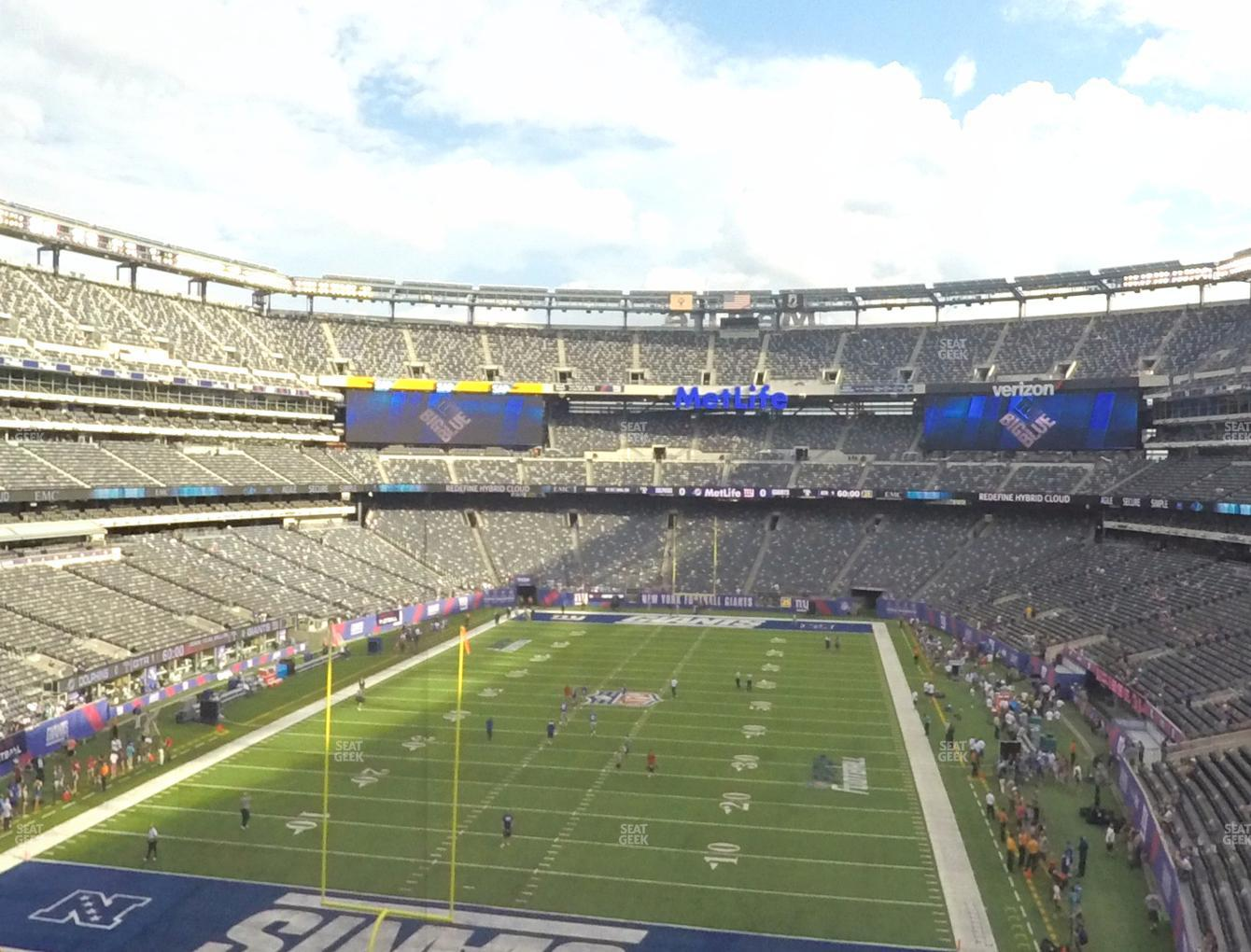 New York Jets at MetLife Stadium Section 249 A View