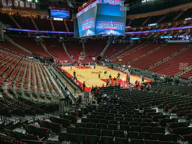 Toyota Center Section 102 view