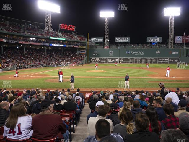 Fenway Park Loge Box 115 view