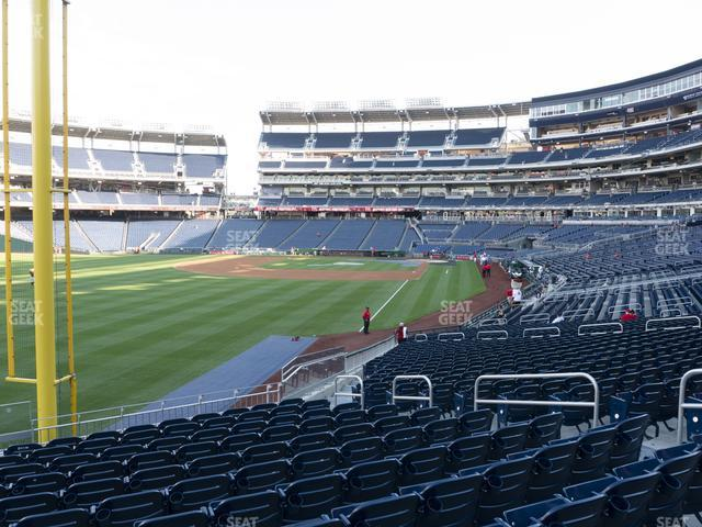 Nationals Park Section 107 view