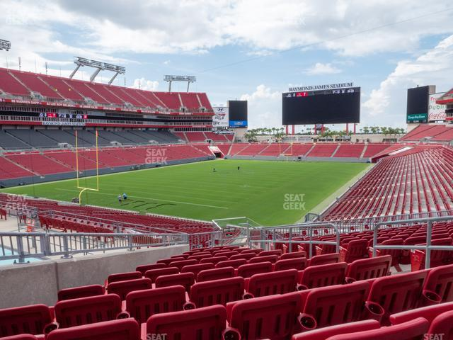 Raymond James Stadium Section 201 view