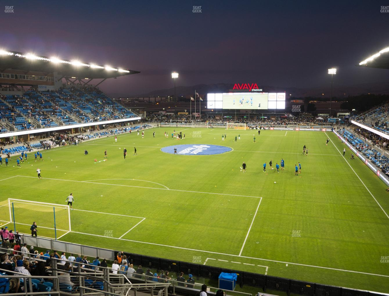 San Jose Earthquakes at Earthquakes Stadium Section 120 View