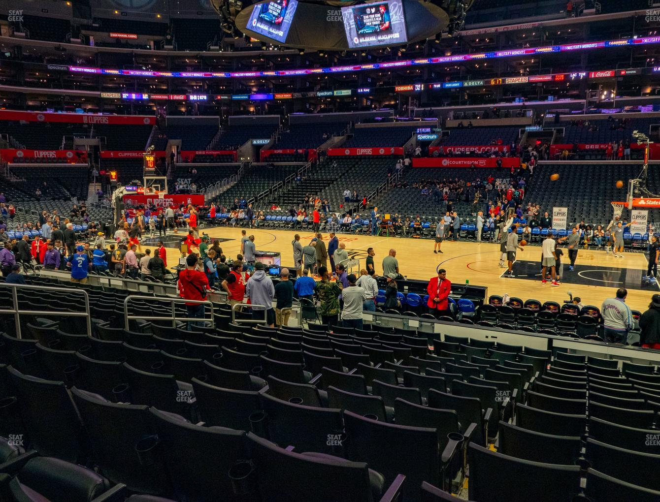 Los Angeles Lakers at Staples Center Section 119 View