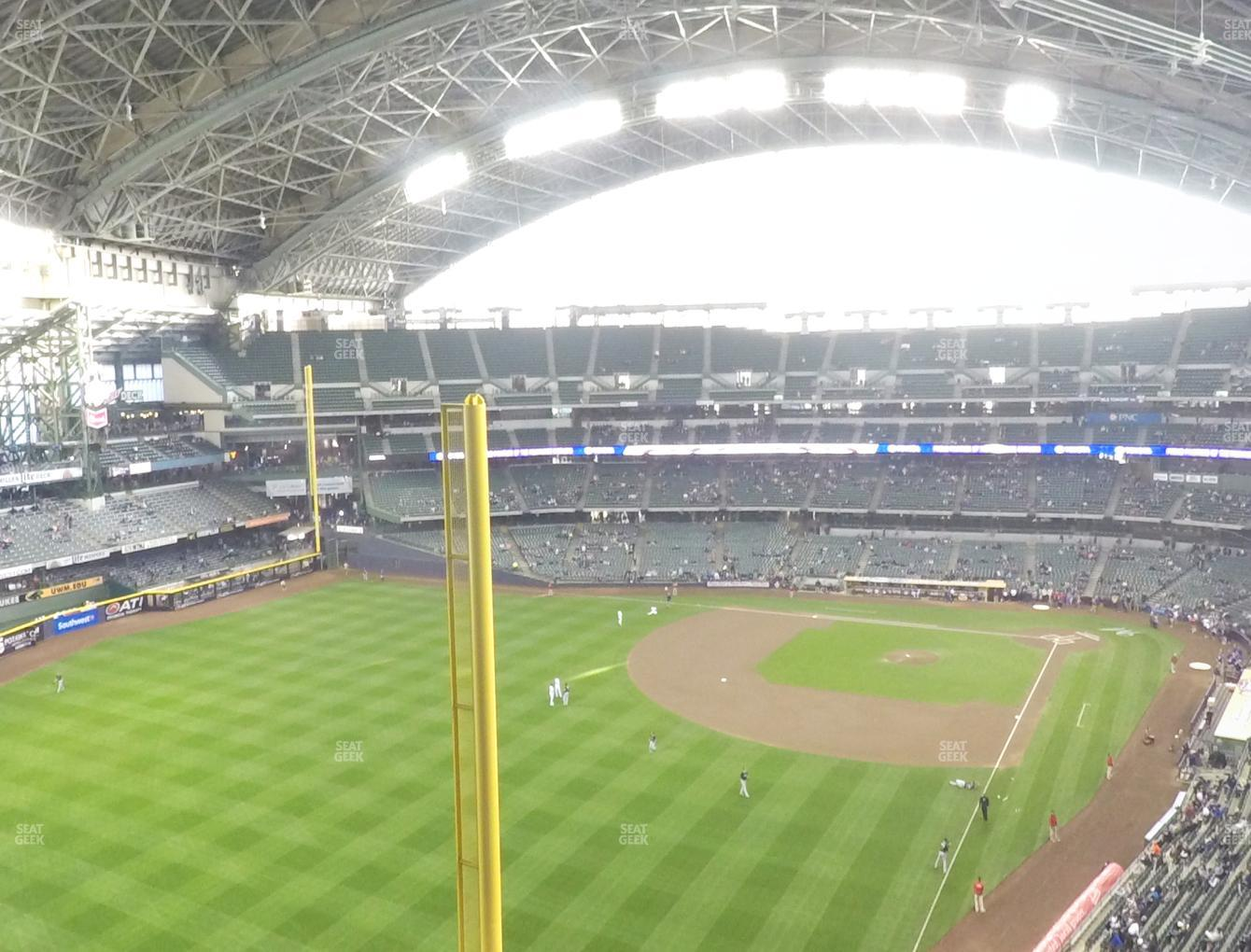Milwaukee Brewers at Miller Park Section 439 View