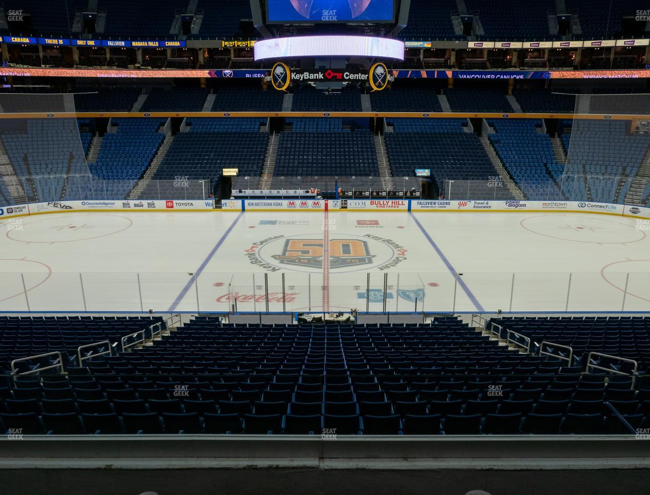 Buffalo Sabres at KeyBank Center Section 218 View